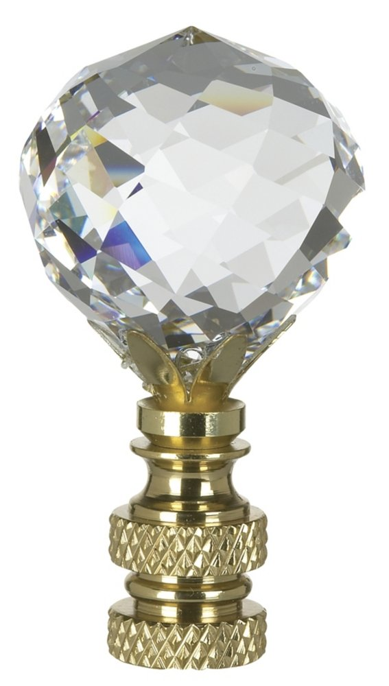 Multi-Faceted Swarovski Crystal Ball Lamp Shade Finial - - Amazon.com