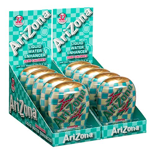 AriZona Iced Tea with Lemon Liquid Water Enhancer LWE (Pack of 10), Low Calorie Single Serving, Liquid Drink Mix, Just Add Water for Deliciously Refreshing Iced Tea Drink ()