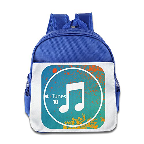 XJBD Custom Funny ITunes Kids School Bagpack For 1-6 Years Old RoyalBlue