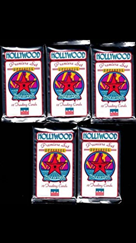 (5) Packs of Hollywood Walk of Fame 1992 Trading Cards Packs Non-sport Michael Jackson Dick Clark from Collect