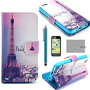ZXSPACE iPhone 5C compatible Graphic/Mixed Color/Special Design/Novelty Case with Kickstand