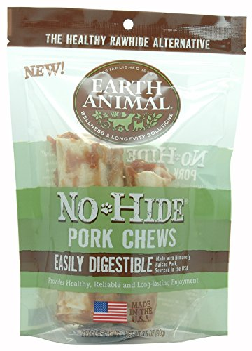 Earth Animal No Hide Pork Chews 4-inch 2-pack Dog Treats by Earth Animal (Image #2)