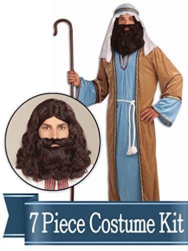 Costume Joseph Men For (BirthdayExpress Joseph Biblical Shepherd Adult Costume Kit -)