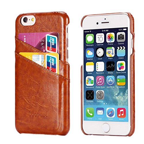 Iphone 6S Plus Case  Iphone 6 Plus Case  Joopapa Iphone 6 6S Plus Wallet Case  Leather Wallet Case Back Cover With 2 Credit Card Id Card Slots For Apple Iphone 6S Plus   Iphone 6 Plus  Brown