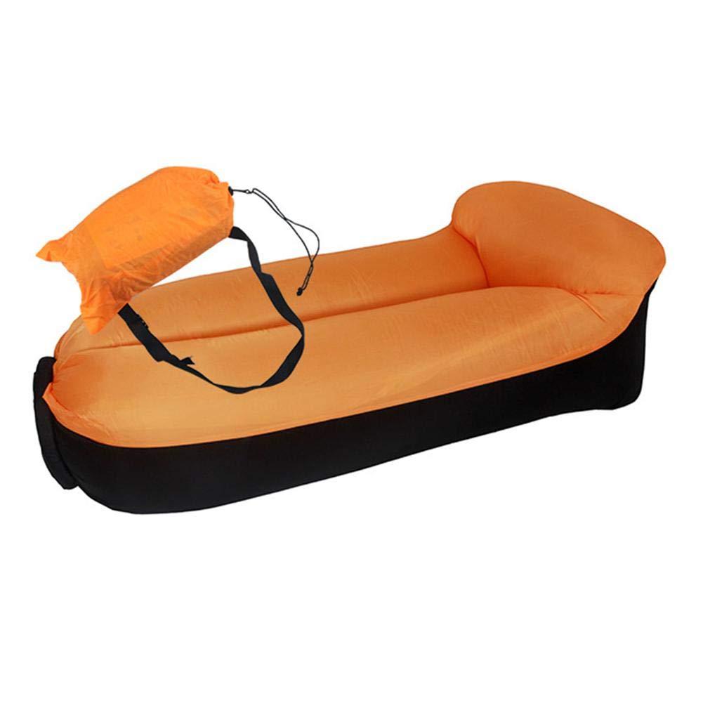 Augproveshak Tumbona Inflable de Aire con Bolsa de Transporte portátil para Playa, Camping, Aire y sofá Impermeable 210T Ripstop Tela sofá para Playa Patio Lakeside Playa Viajes Camping picnics