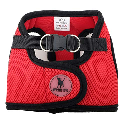 The Worthy Dog 3347 Sidekick Harness, X-Large, Red