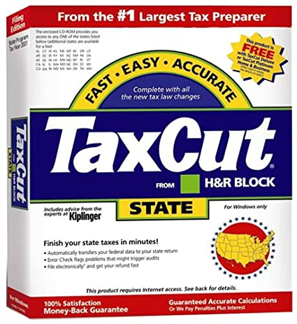 TaxCut From HR Block 2001 State Filing Edition