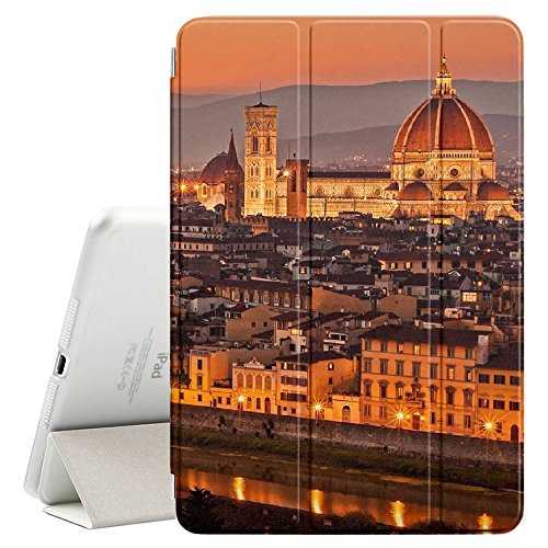 FJCases Florence Italy Postcard View Smart Cover Stand + Back Case with Auto Sleep/Wake Function for Apple iPad Pro (10.5