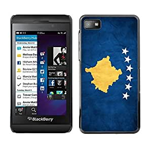 Shell-Star ( National Flag Series-Kosovo ) Snap On Hard Protective Case For BackBerry Z10