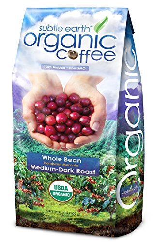 Cafe Don Pablo Subtle Earth Organic Honduran Marcala Medium-Dark Roast Whole Bean Coffee, 2 lbs (Pack of 4)