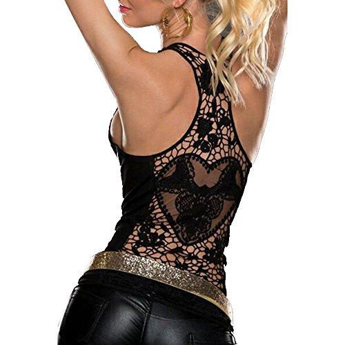 Lace Back Vest - 5