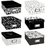 Pioneer Black & White Photo Storage Box-Six Assorted Designs