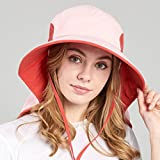 Hats Hat/Visor/Beach Sun Hat/Female Summer Husband/Outdoor Mountaineering/Covering Face Quick-Drying Sunscreen Travel/Fold Wild (Color : Pink)