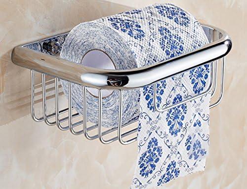 cesta de toalla de papel titular de rollo de papel higiénico cesta de toallas de baño WC-titular de cobre todo el papel de la bandeja antigua simple de la ...
