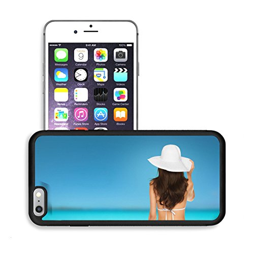 Luxlady Premium Apple iPhone 6 Plus iPhone 6S Plus Aluminum Backplate Bumper Snap Case IMAGE 25509094 o vacation summer holidays and lingerie concept back view of beautiful woman
