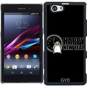 Funda para Sony Xperia Z1 Compact - Feliz Año Nuevo - Pingüino by Adamzworld