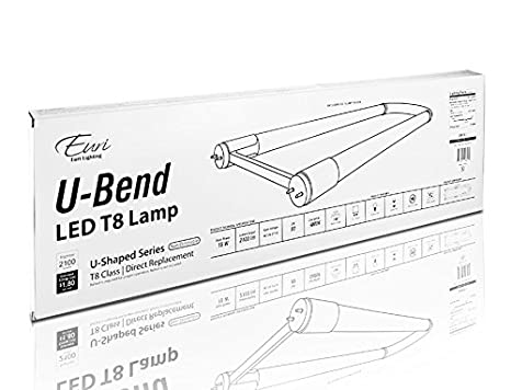 Amazon Com Euri Lighting Eub 1140 Led T8 U Bend Bulb Linear Line