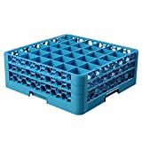 OptiClean 36 Compartment Glass Rack with 2 Extenders [Set of 3] Finish: Blue