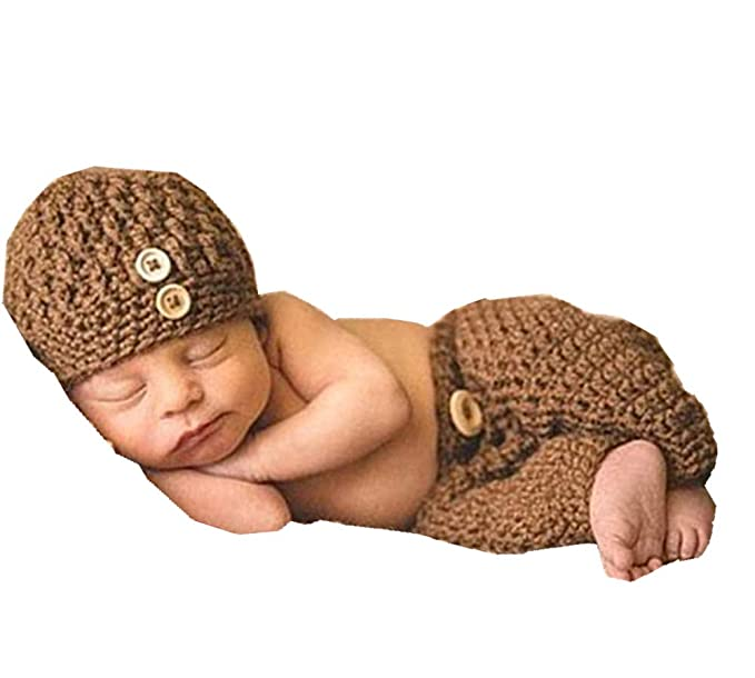 754e4b1dc Amazon.com: Ximkee Cute Newborn Baby Boy Girl Infant Crochet Costume ...