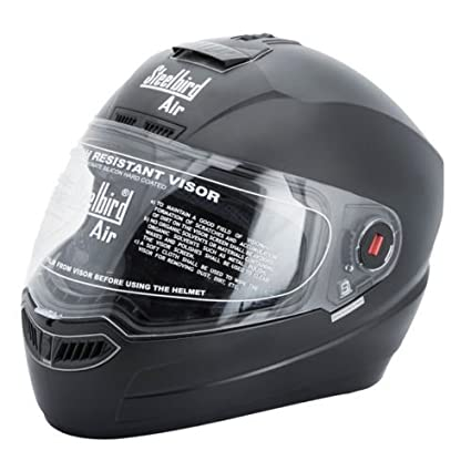 cbcabeab Steelbird SBA-1 Dashing Black with Plain visor,600 mm: Amazon.in: Car &  Motorbike