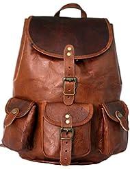 FAB Casual Real Genuine Leather Backpack Fashion Shoolbag Camping Bag Shoulder Bag Leather Rucksack