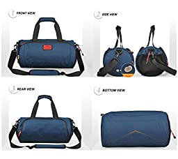Cool NEW! Duffel Style Carry On Sports Travel Bag with Shoulder Strap, Zippered Compartments