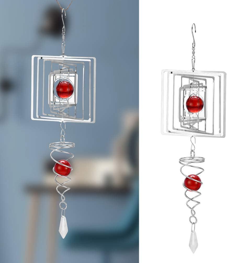maison D/écoration pour ext/érieur Carillon /à vent en m/étal jardin D/écoration /à suspendre Jolies perles carr/ées en cristal terrasse
