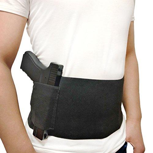 DecoDeco Belly Band Holster Ceinture gaucher Epaule Airsoft, Pistolet à Main élastique pour Pistolets Revolvers pour… 1