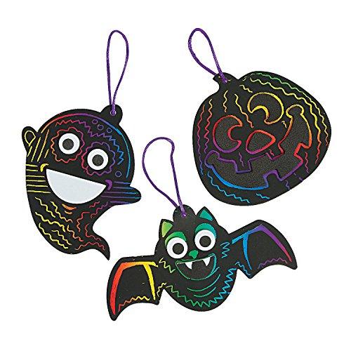 Halloween Magic Color Scratch Ornament Craft Kit ()