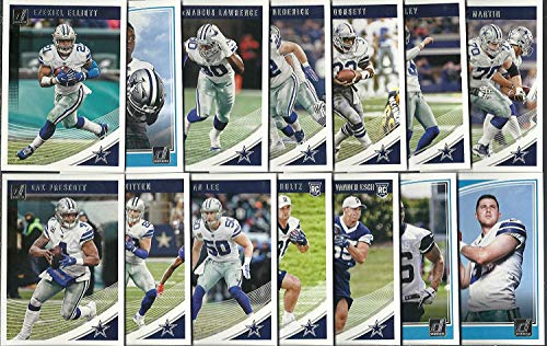 2018 Panini Donruss Football Dallas Cowboys Team Set 14 Cards W/Drafted Rookies Dak Prescott Elliott ()