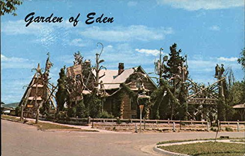 garden of eden lucas kansas original vintage postcard - Garden Of Eden Kansas
