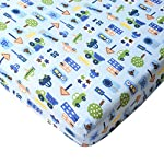 Big-Oshi-Fitted-Crib-Sheet-Fits-Full-Size-Baby-Crib-or-Toddler-Bed-Mattress-Fits-Mattresses-up-to-8-Inches-Deep-Knitted-100-Cotton-Cars-Pattern-Blue