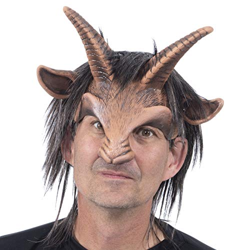 Zagone Goat Boy Mask,  Horns, Nose, and Hair, Animal, Male]()