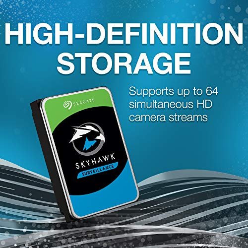 Seagate SkyHawk 8TB Surveillance Internal Hard Drive HDD - 3.5 Inch SATA 6Gb/s 256MB Cache for DVR NVR Security Camera System with Drive Health Management (ST8000VX0022) by Seagate (Image #3)