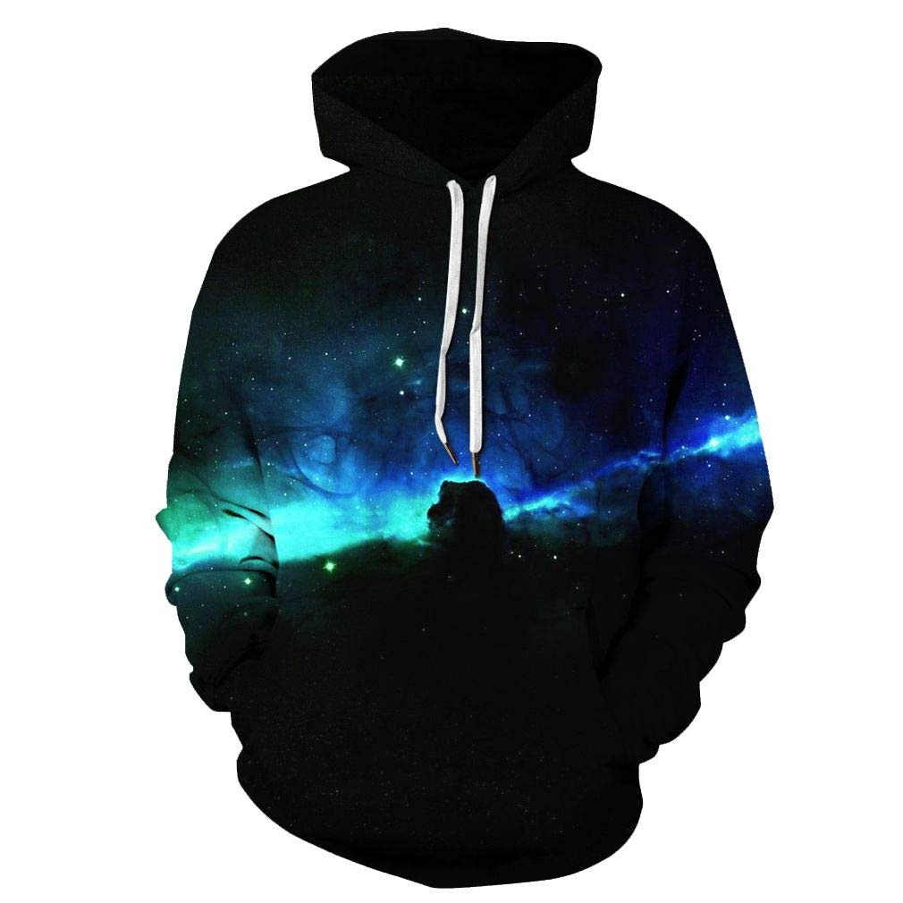 0c040853c4b0 Amazon.com  SAYM Unisex Galaxy Pockets 3D Pullover Hoodie Hooded  Sweatshirts Hoodies  Clothing