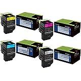 Lexmark 70C1HC0, 70C1HK0, 70C1HM0, 70C1HY0 High Yield Toner Cartridge Set - Lexmark CS510de Black,Cyan, Magenta, Yellow