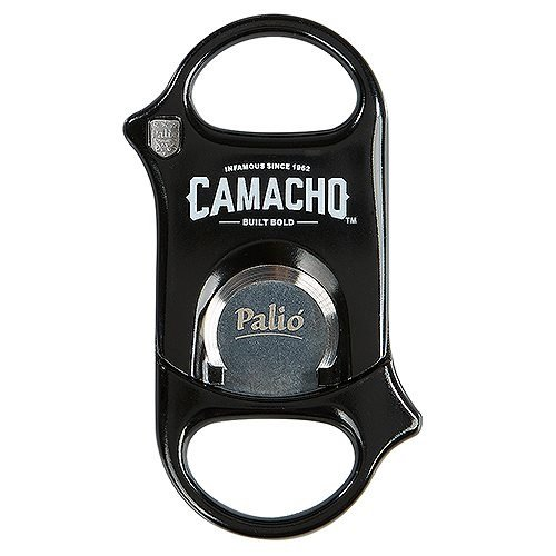 Palio Guillotine Cigar Cutter Hardened Surgical Steel Blades - Lifetime Warranty (Camacho Black)