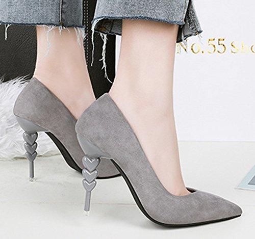 Chaussure Easemax de Femme Basse Escarpins Stiletto Printemps Gris Simple Rwx6FqpwnE