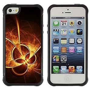 LASTONE PHONE CASE / Suave Silicona Caso Carcasa de Caucho Funda para Apple Iphone 5 / 5S / Sun Fire Abstract Shapes