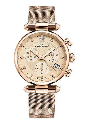 Claude Bernard Ladies-Wristwatch Dress Code Chronograph Date Quartz 10216 37R BEIR2