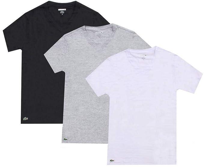 buy online a4bc7 7df94 Maglietta da uomo LACOSTE 3 Pack, scollo a V, vestibilità ...