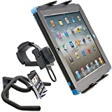 ChargerCity Strap-Lock Tablet Mount for Bicycle Treadmill Exercise Bike Boat Helm Handlebar w/ universal tablet holder for Apple iPad Mini Air PRO /Ipad Samsung Galaxy Tab (7-12inch Tablets)