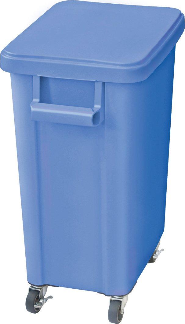 リス 業務用ゴミ箱 厨房用キャスターペール 45L 排水栓付き ブルー 16048 B00VSYO0SA 45L|ブルー ブルー 45L