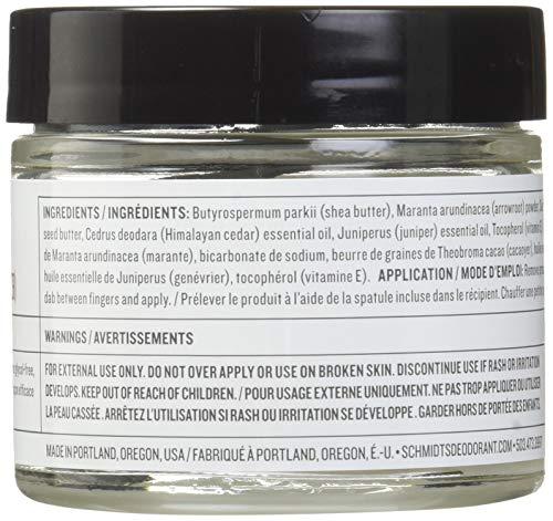 Schmidt's Deodorant Schmidt's Natural Deodorant, Cedarwood + Juniper 2 Ounce