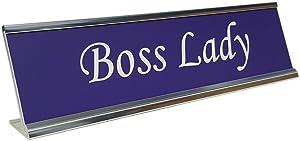 Boss Lady - Funny Desk Plate Gag Gift for Boss