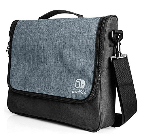 - Nintendo Switch Messenger Bag Portable Case for All Accessories
