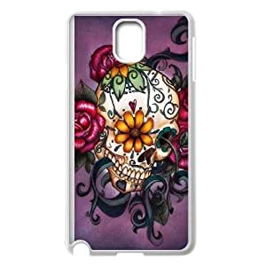 Samsung Galaxy Note 3 Cell Phone Case White Sugar Skull Cover 007 HIV6755169582501