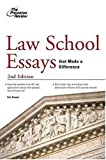 Law School Essays That Made a Difference, Eric Owens and Princeton Review Staff, 0375765700