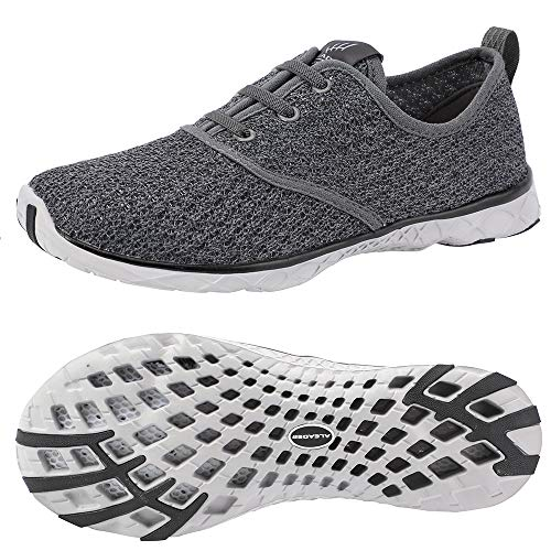 ALEADER Men's Stylish Quick Drying Water Shoes Gray 8.5 D(M) US from ALEADER