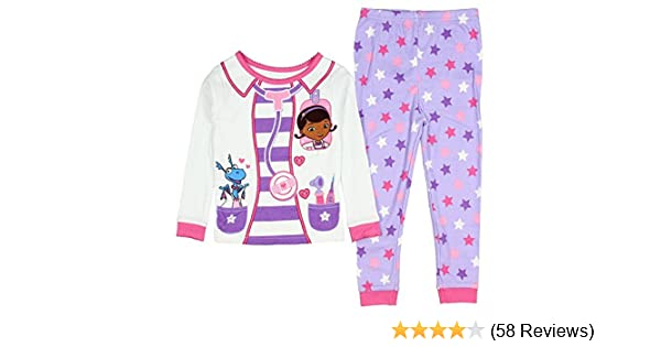 Amazon.com  AME Sleepwear Disney Doc McStuffins Little Girls Toddler Long  Sleeve Cotton Pajama Set  Clothing 02a4807d6